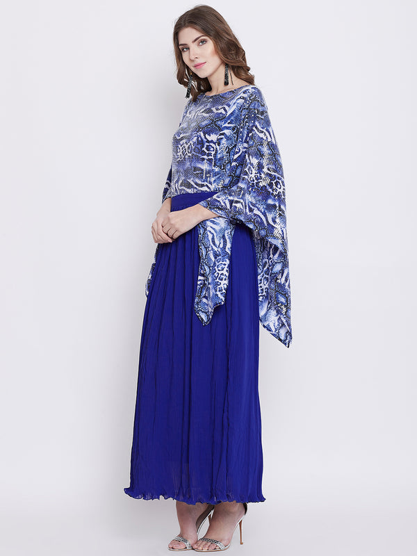Aphrodite Sequins and Pleats Maxi Dress