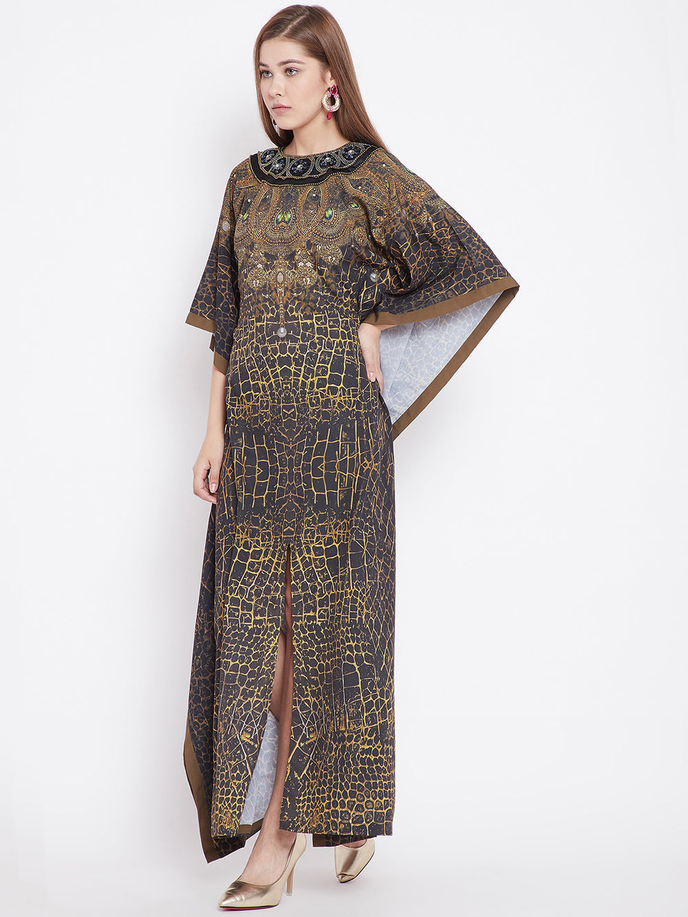 Jewelled Chocker Serengeti Kaftan