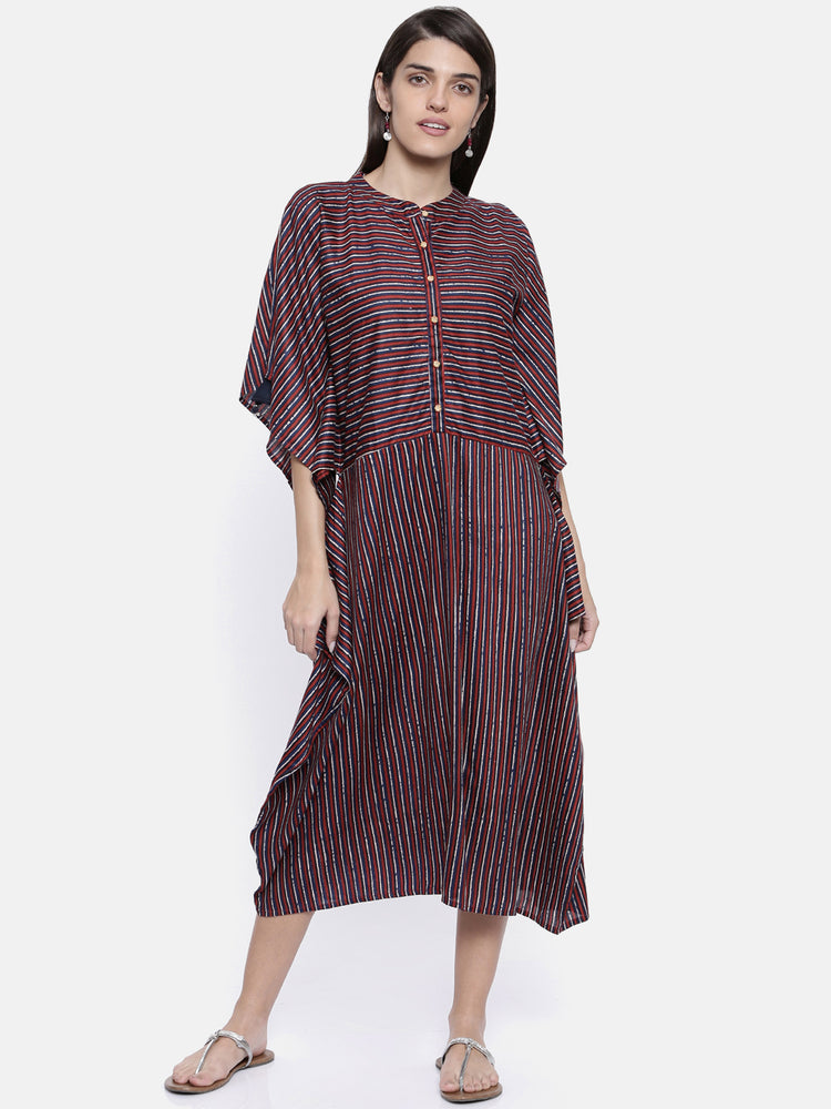 Stripe Vertiginous Kaftan Dress