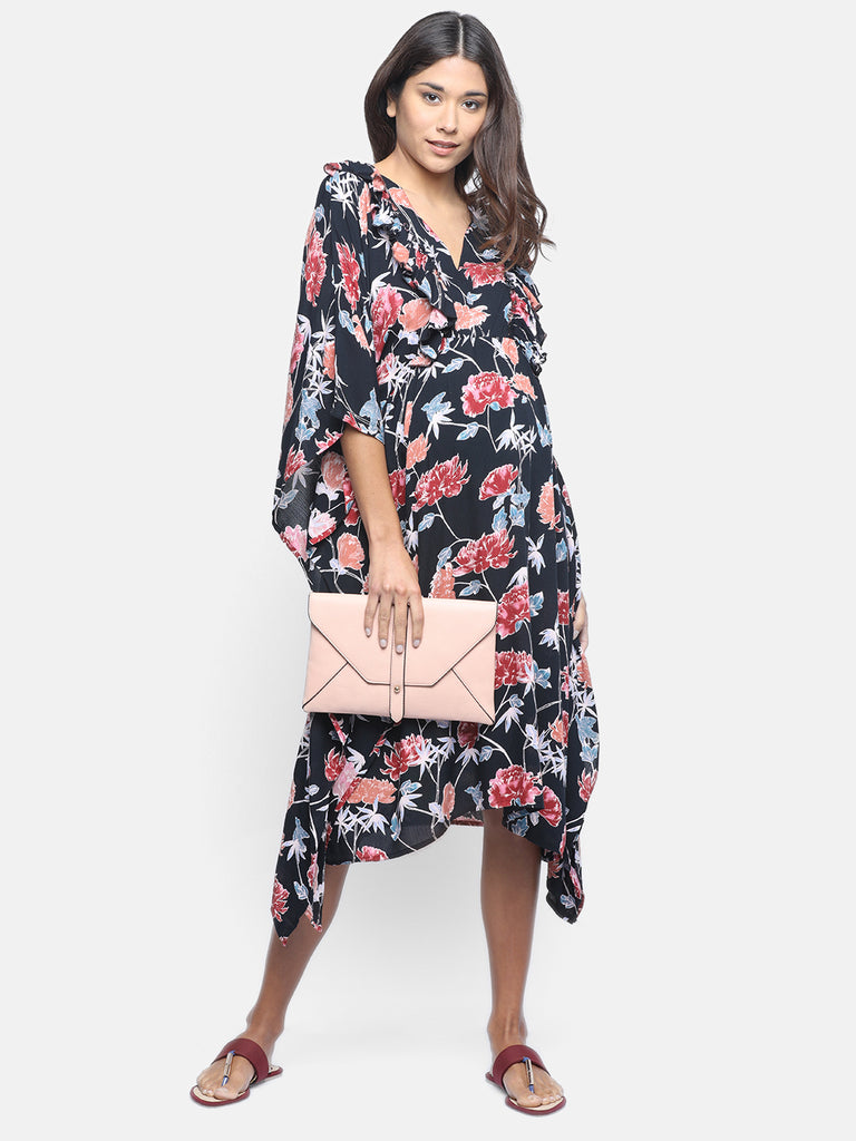 INKY FLORET MATERNITY WEAR CUM NURSING DRESS