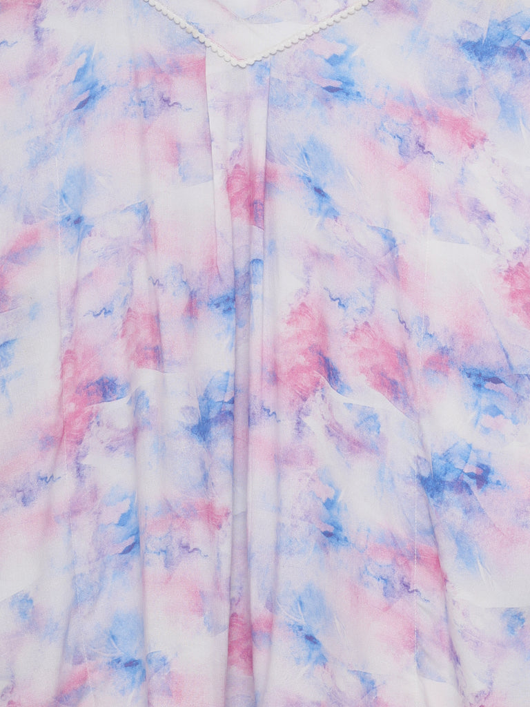 TIE-DYE KNEE LENGTH DRESS