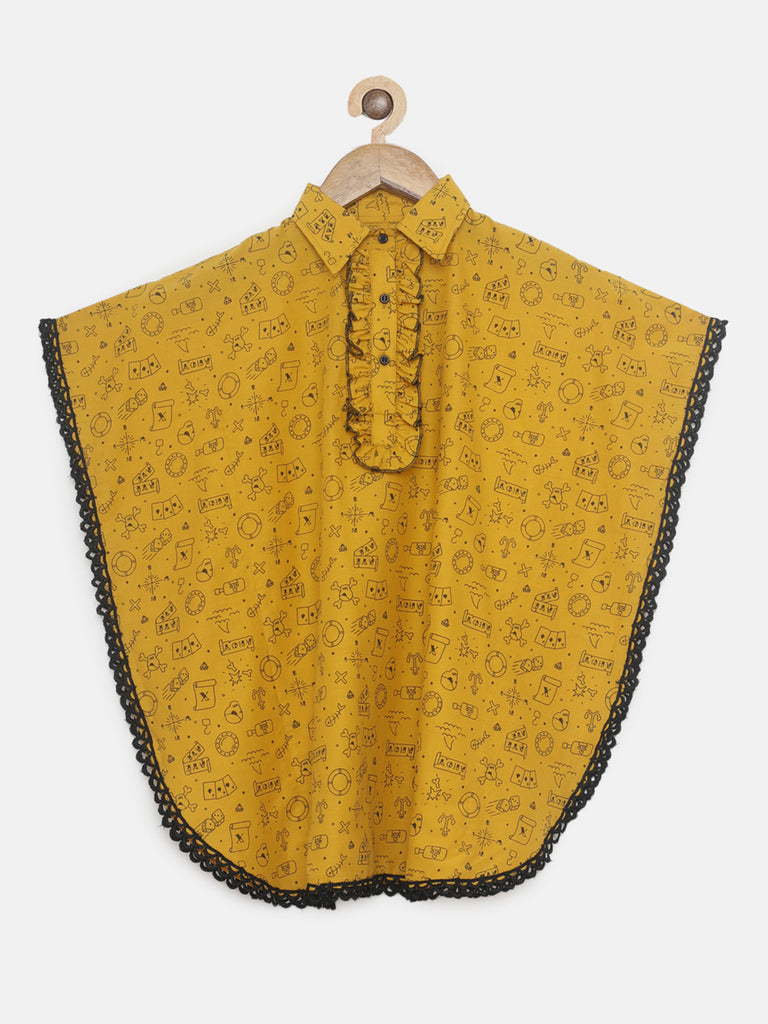 MUSTARD CONVERSATION KAFTAN TOP