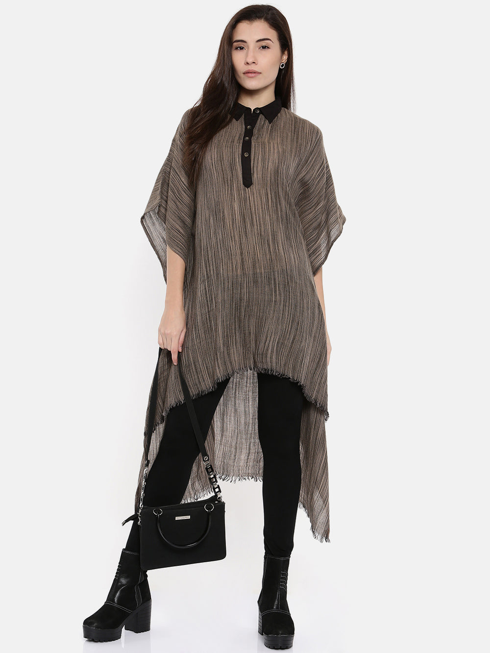 PREMIUM WOOL HIGH-LOW KAFTAN