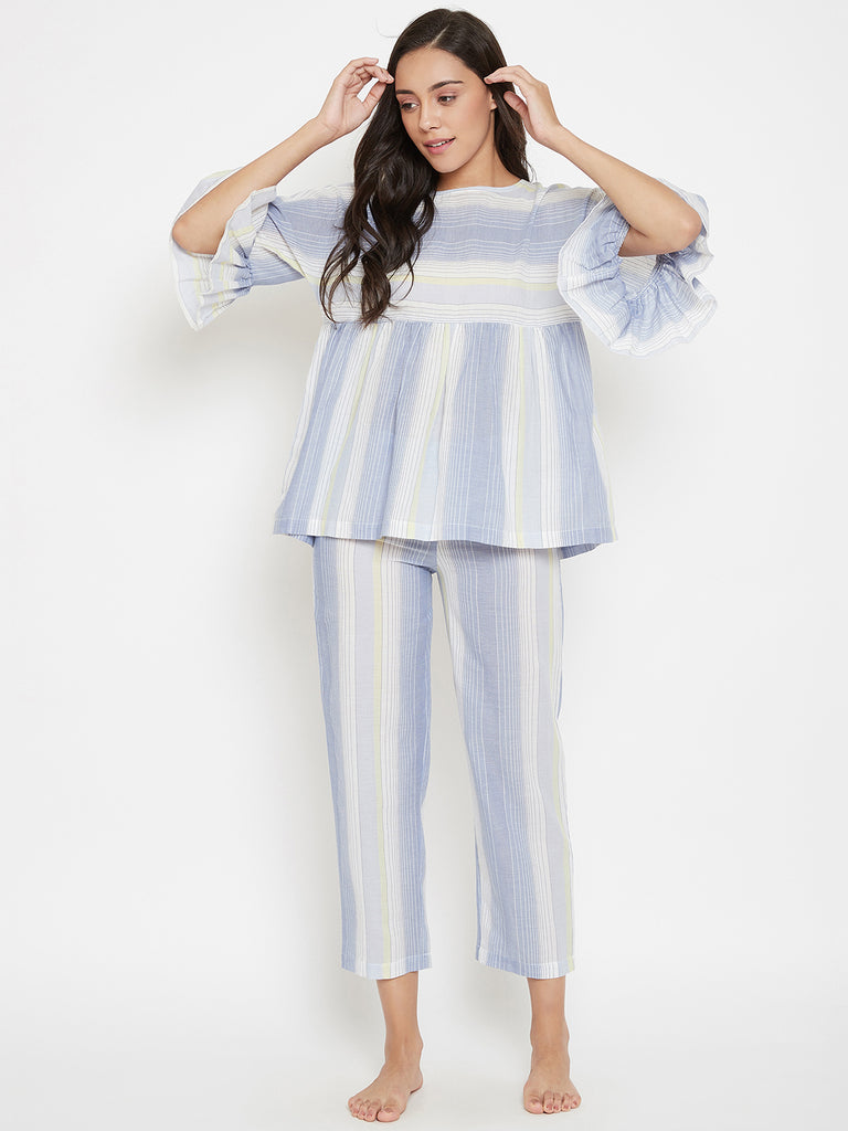 Stripe Hype Kaftan Pyjama Set