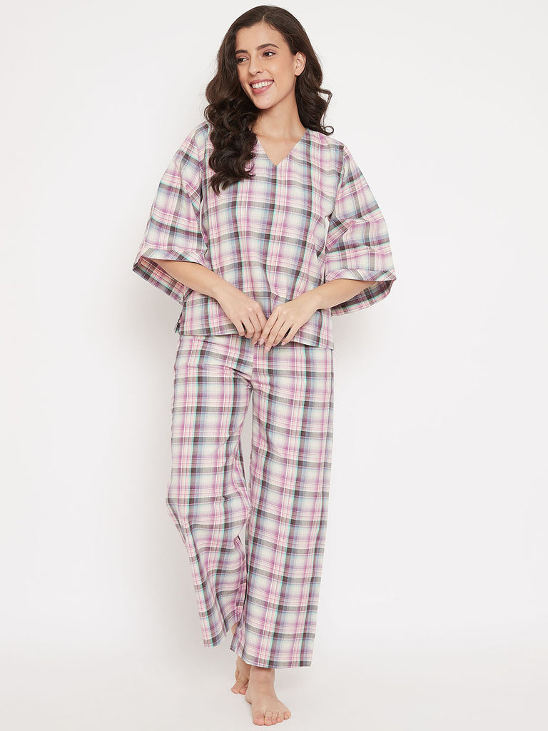 Barbie Plaid Cotton Pyjama Set