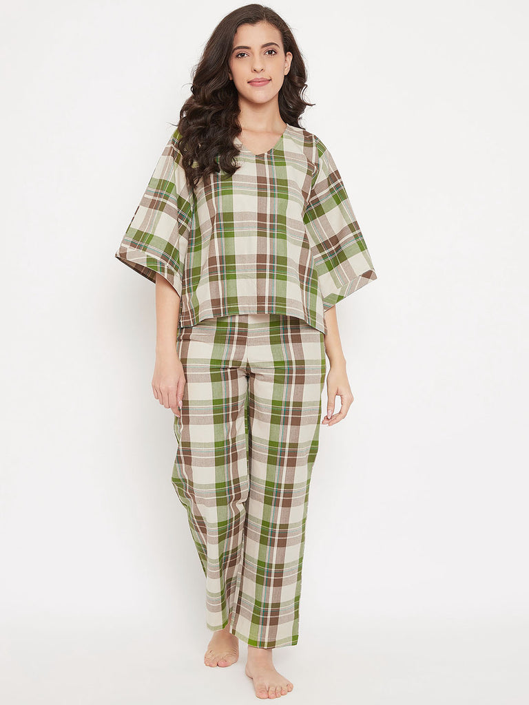 Forest Plaid Cotton Pyjama Set