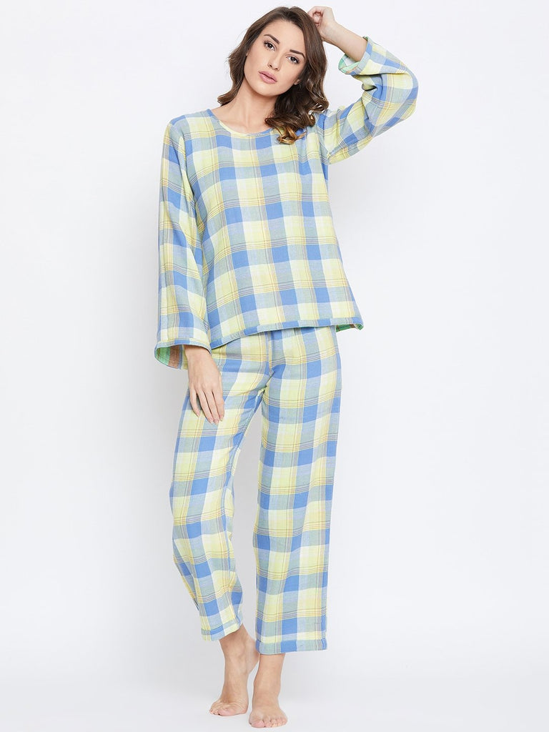 REVERSIBLE PLAIDS LOUNGE SET