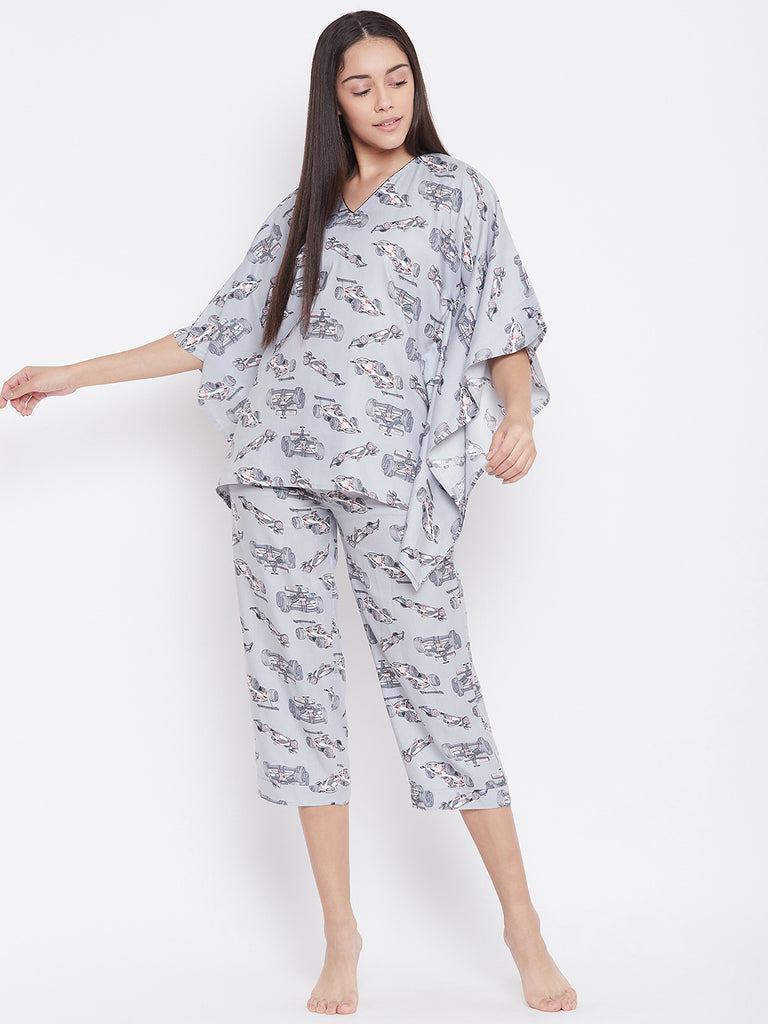 RACING CARS KAFTAN PYJAMA SET