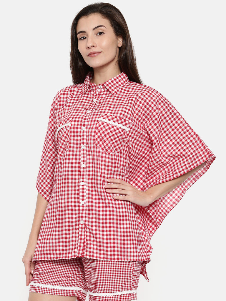 Red Gingham Lounge Set