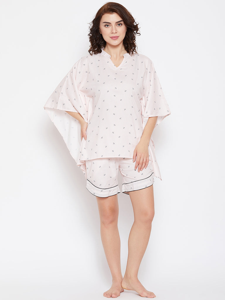 UMBRELLA REPAEATS KAFTAN SHORTS SET