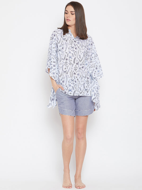 VAN FLORA KAFTAN SHORTS SET