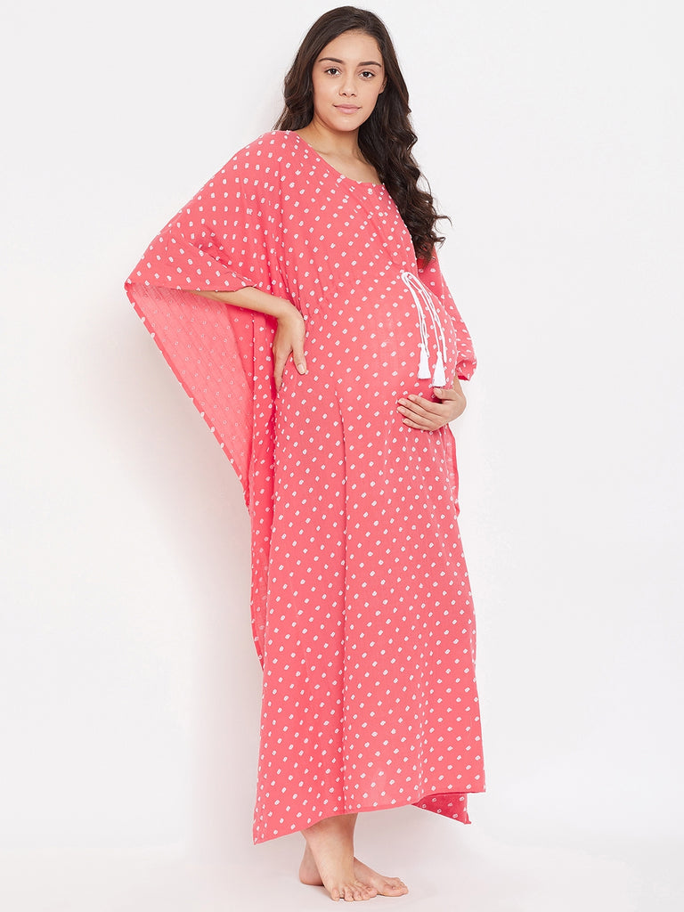 CORAL FUN MATERNITY LOUNGE KAFTAN