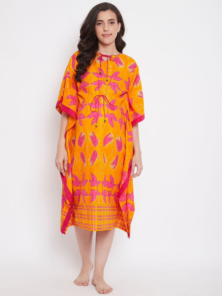 Orange Bilss Maternity Kaftan