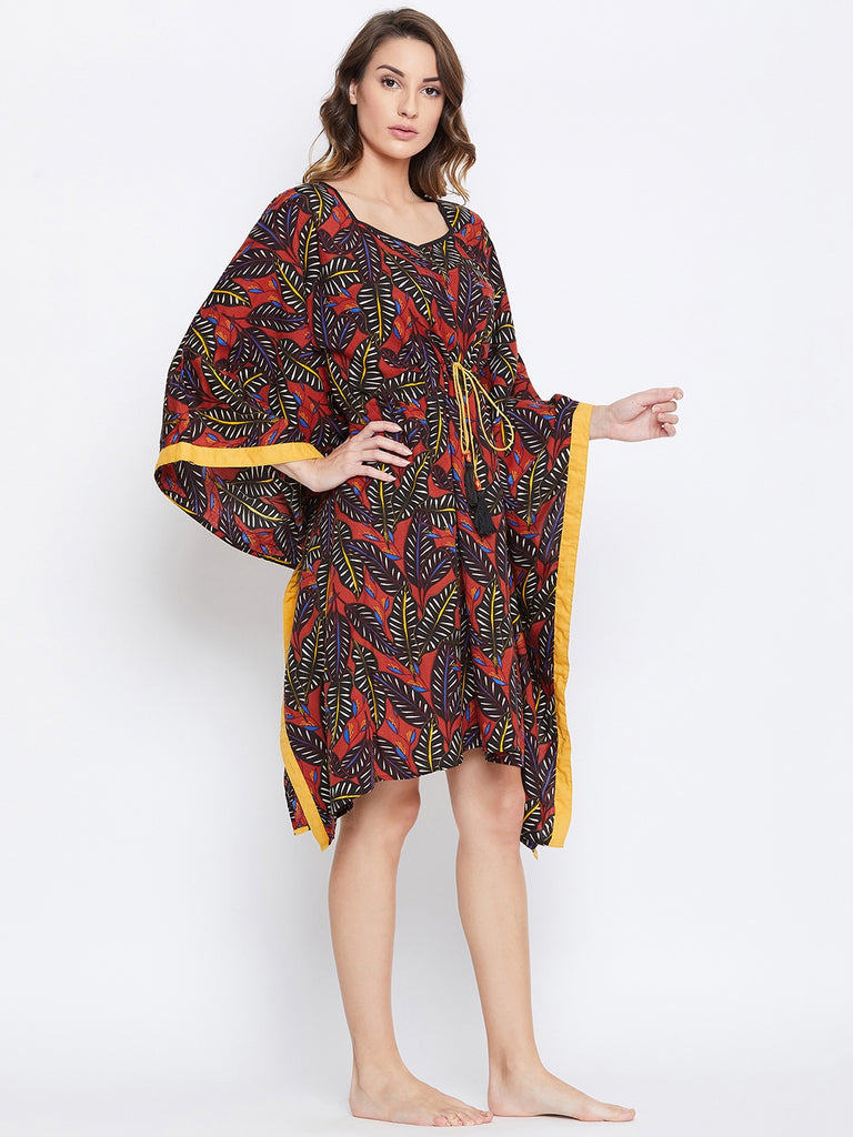 PALM JUNGLE LOUNGEWEAR KAFTAN