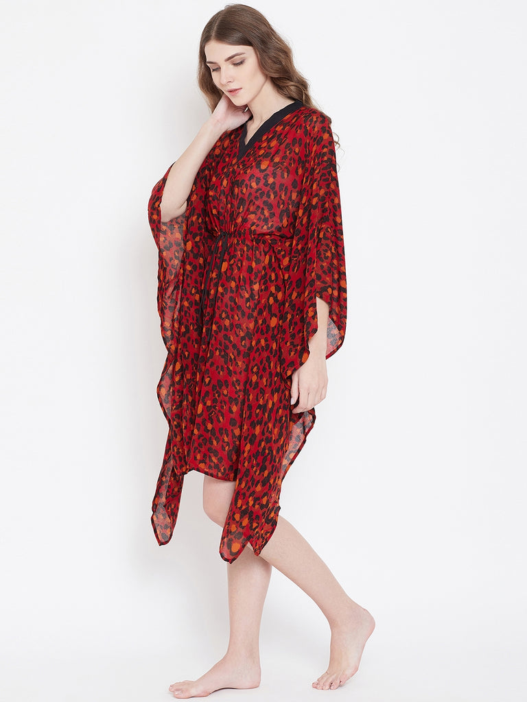 Soft Modal Printed Short Kaftan