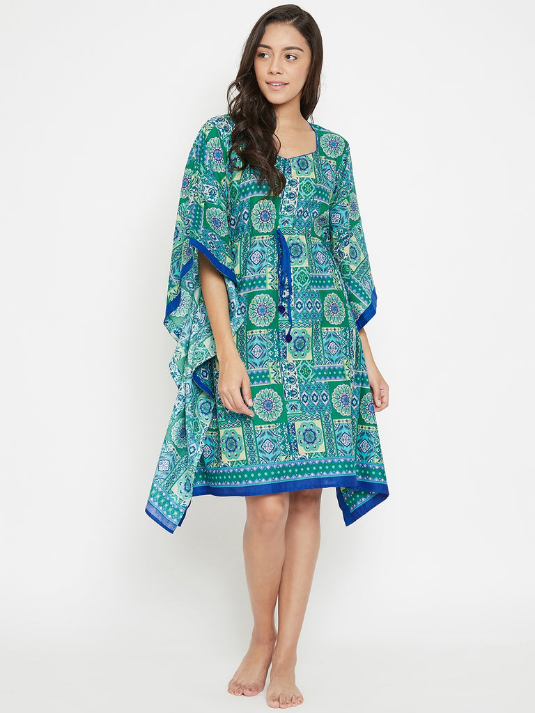 Pattern Frenzy Knee Length Kaftan