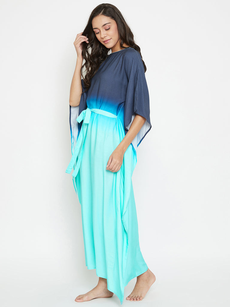 Sea Shades Loungewear Kaftan with Belt
