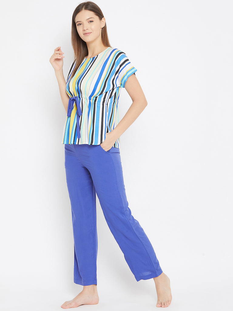 Multicolor Stripe Pyjama Loungeset