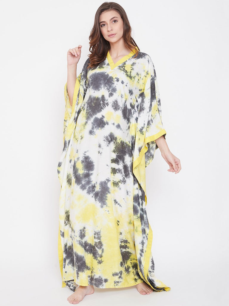 Goldfinch Crumple Tie-Dye Kaftan