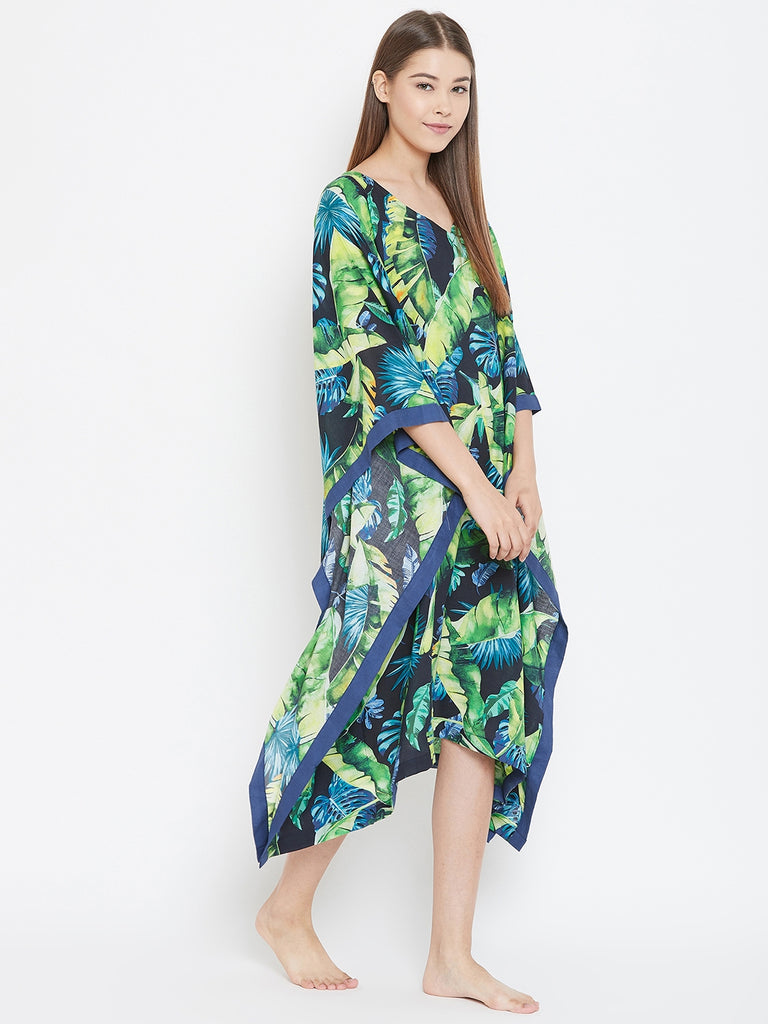 TROPICAL GRACE LOUNGEWEAR KAFTAN