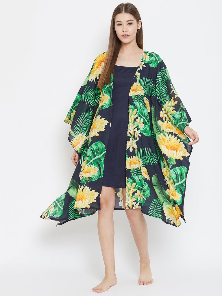 TROPICAL BLOOMS KAFTAN GOWNSET