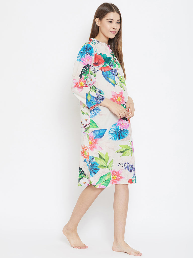 TROPICAL BLOSSOM SLEEPSHIRT