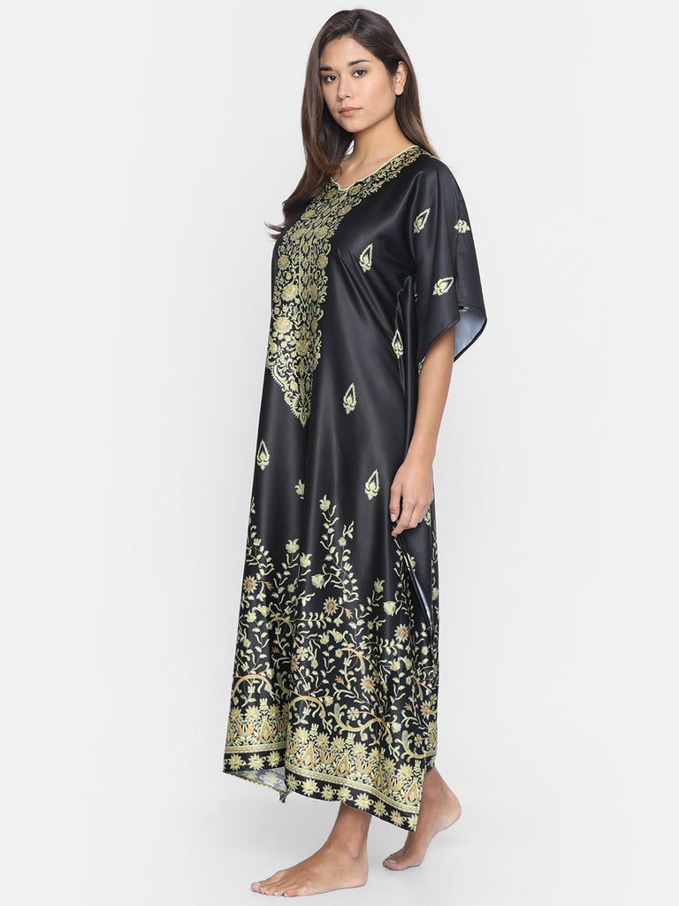 GOLDEN BLOOMS LOUNGEWEAR KAFTAN