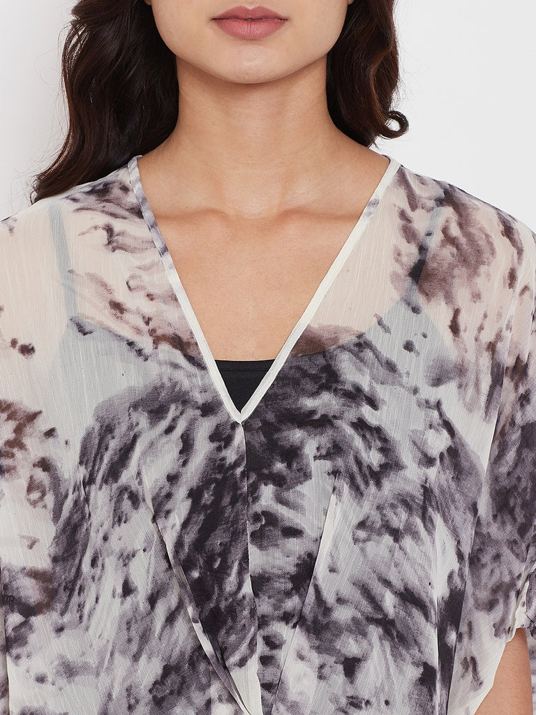 Marble Muse Sheer Kaftan with Slip
