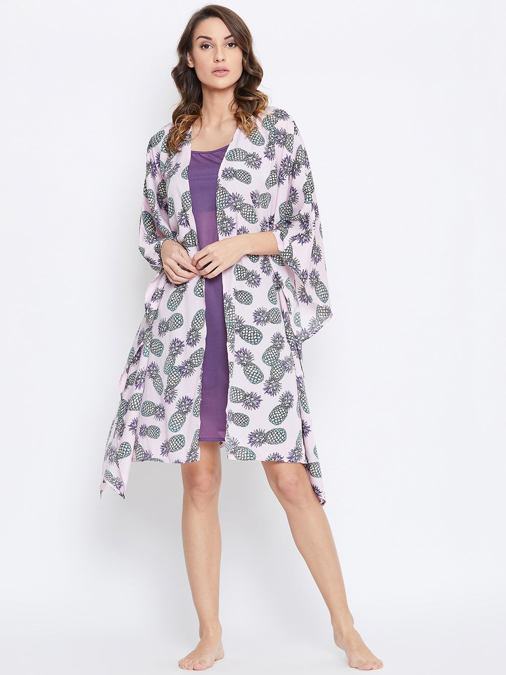 PINEAPPLE PUNCH KAFTAN GOWNSET