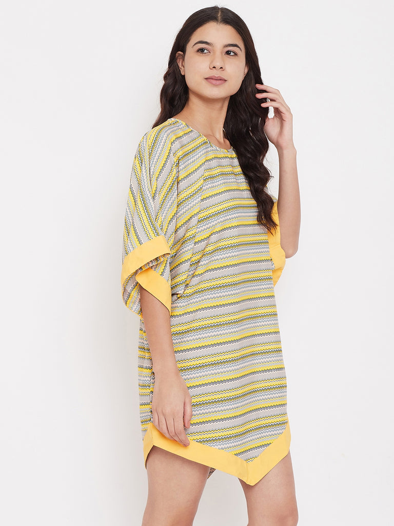 Yellow Stripes Sleepshirt