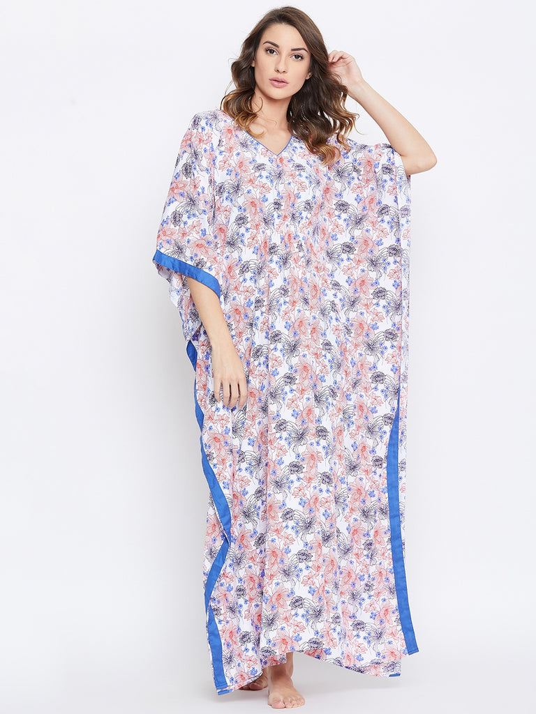 FLORAL PRINTED NIGHTDRESS KAFTAN
