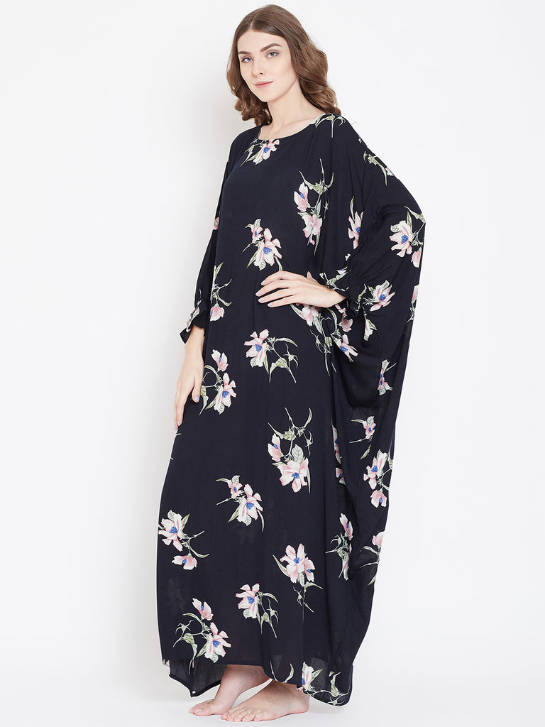 DARK FLORA ONESIZE NIGHTDRESS