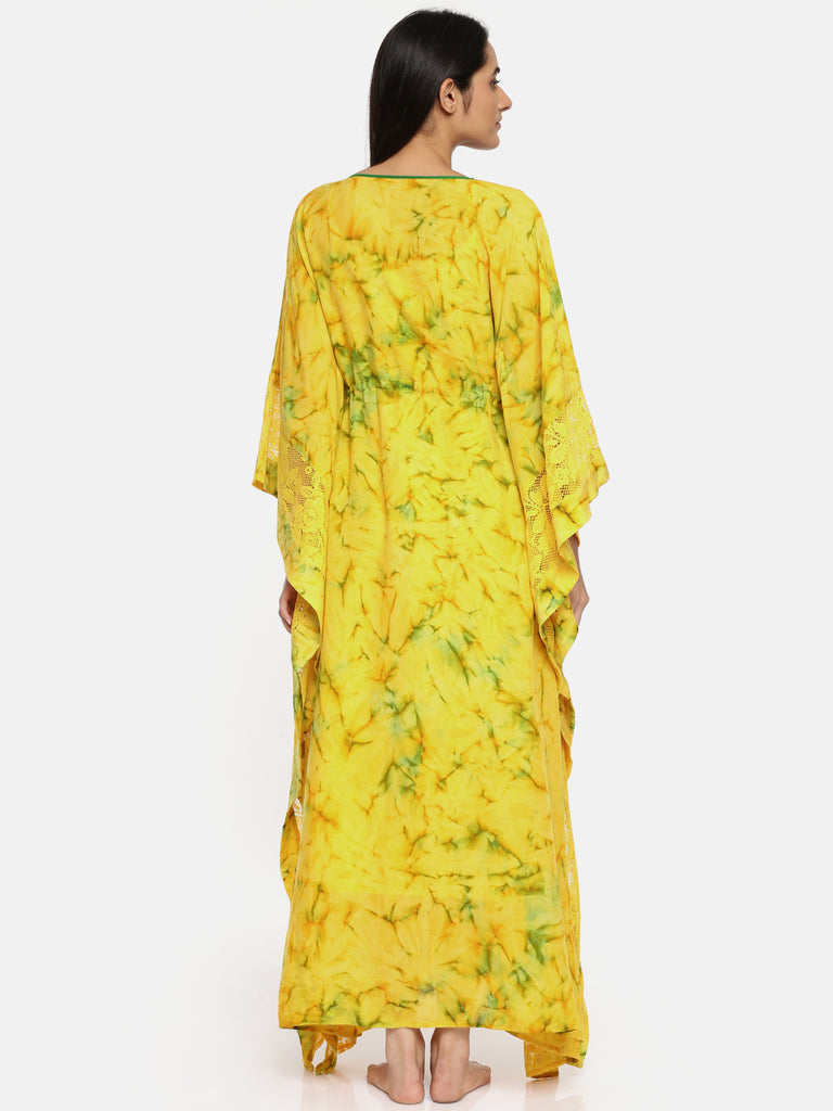 Sunshine Tie-Dye Kaftan Gown Set