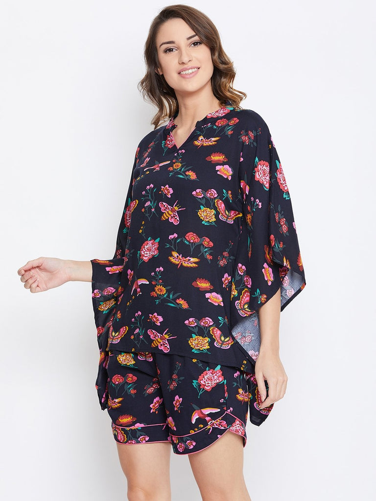 BLOOMS AND CHIRPS KAFTAN SHORTS SET