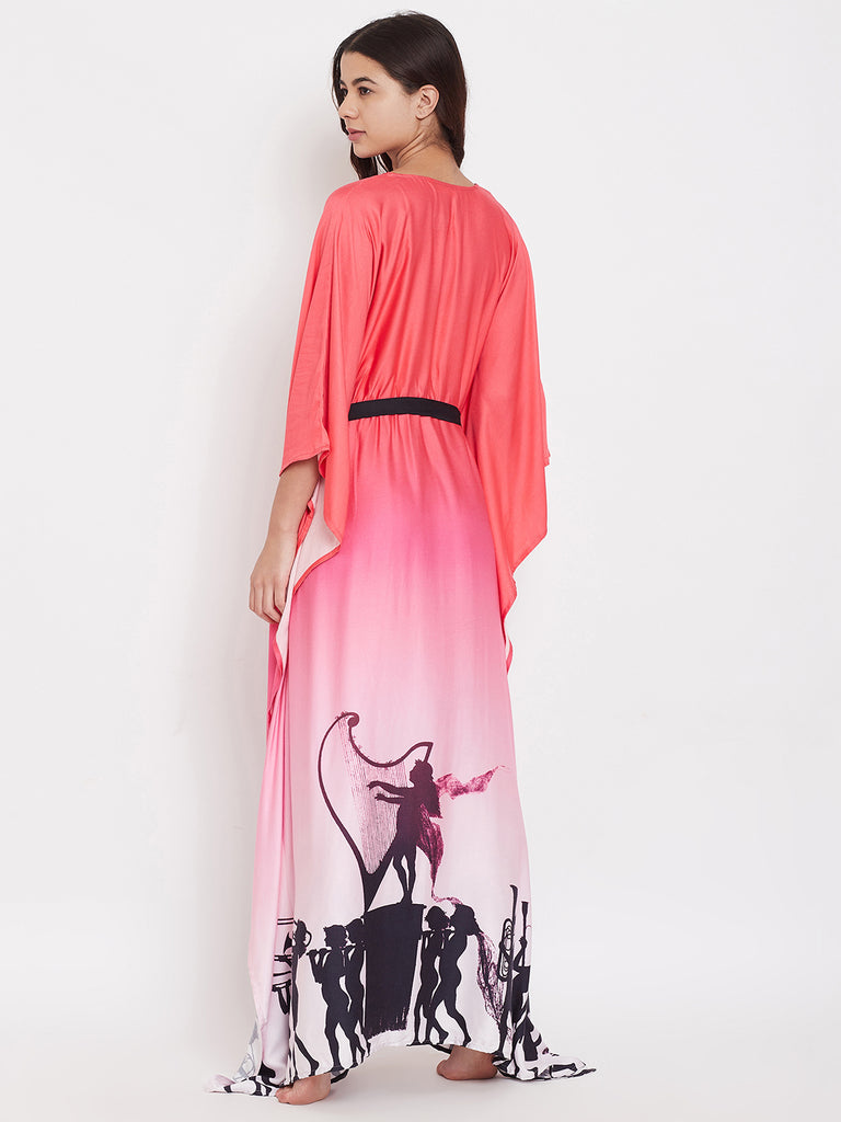 Cupid's Shadow Pink Ombre Loungewear Kaftan