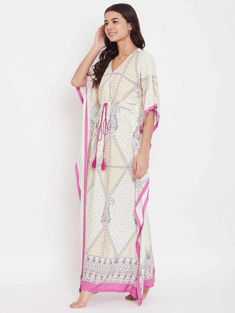 Diamond Paisley Loungewear Kaftan