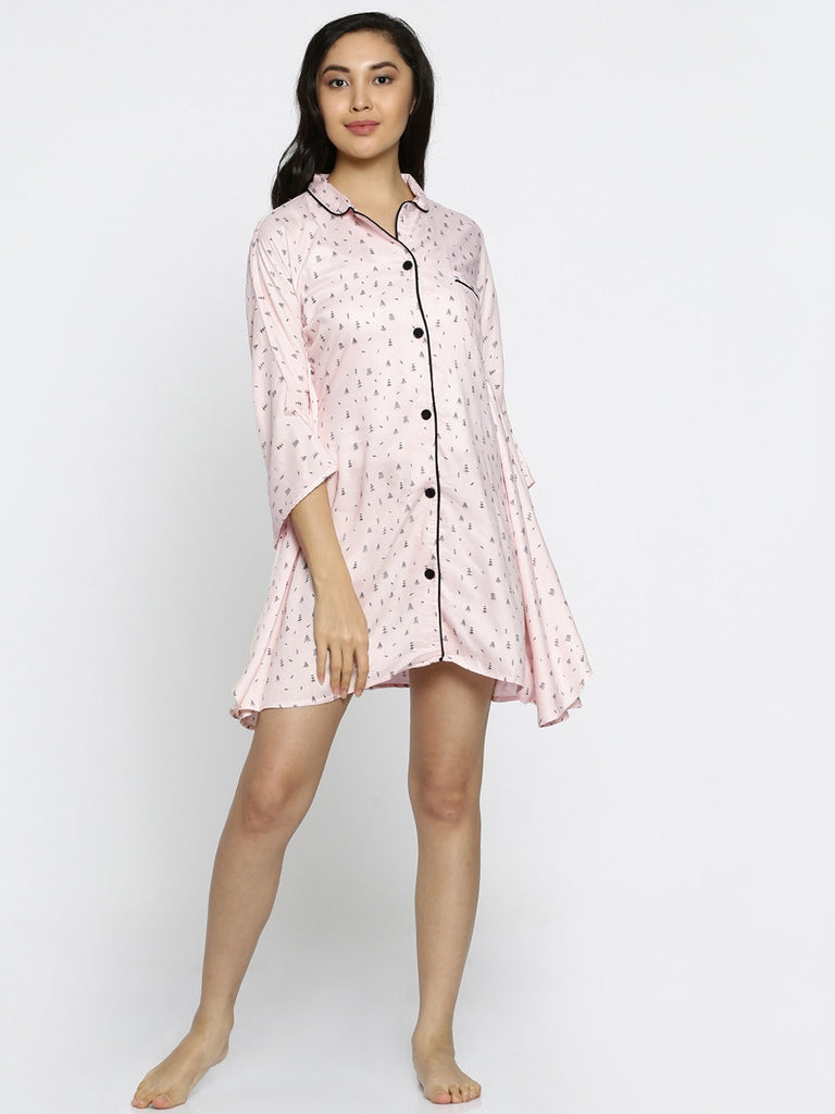 Pines and cones kaftan sleepshirt