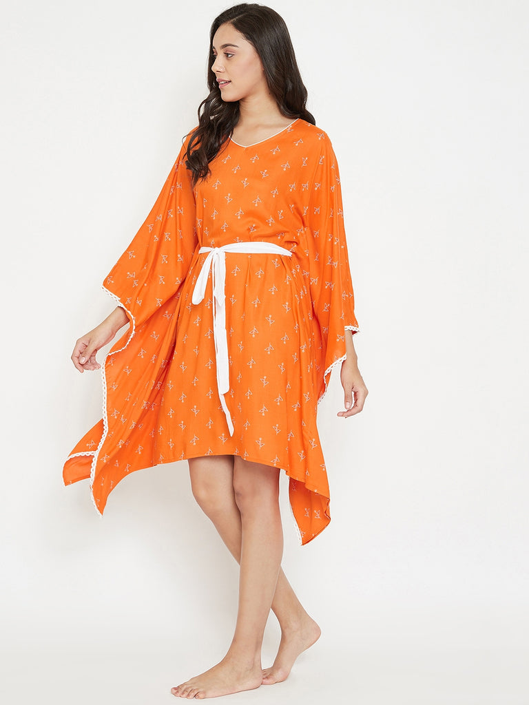 Sunset Sorbet Kaftan with Belt