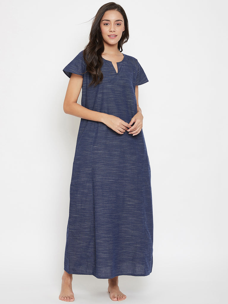 Blue Madness Cotton Nightdress