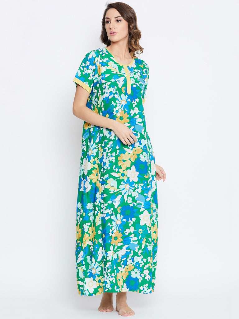 MEGA FLORA COTTON NIGHTDRESS