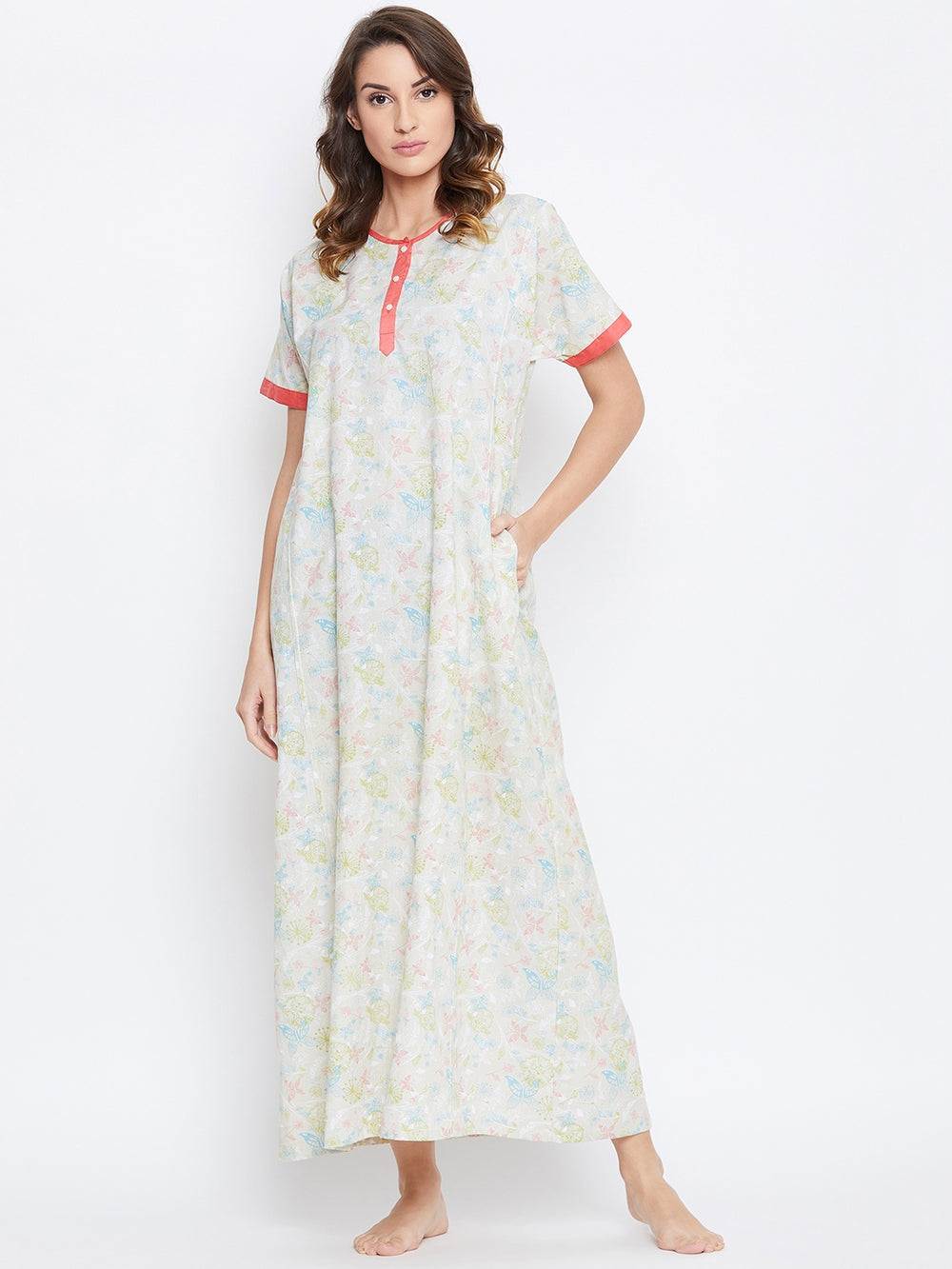 PRETTY BLOOMS COTTON NIGHTDRESS