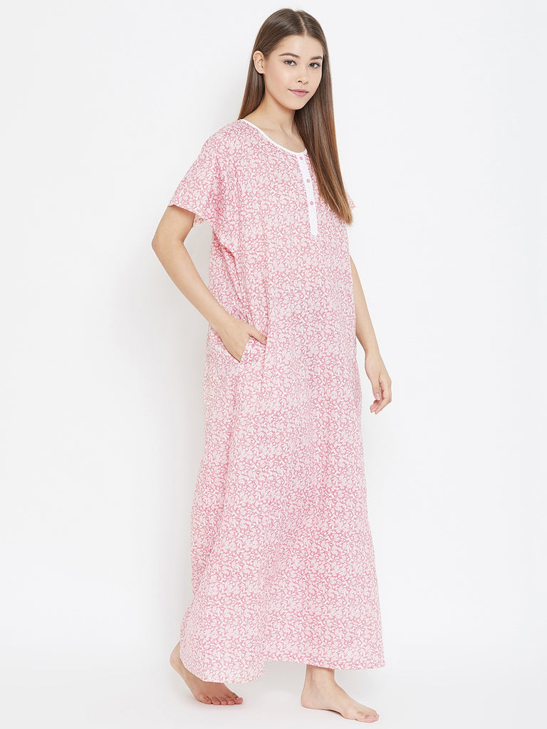 PRETTY PINK COTTON NIGHTDRESS