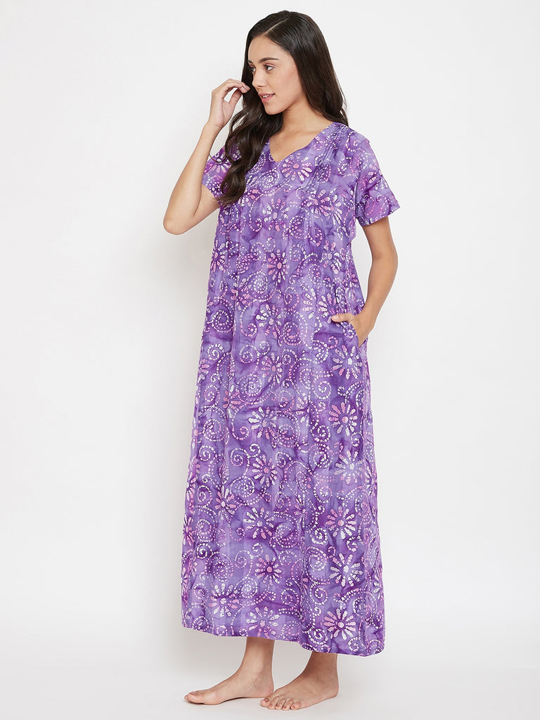 Purple Batik Nightdress