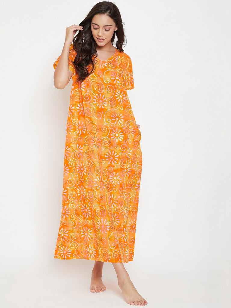 Yellow Batik Nightdress