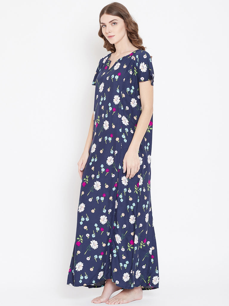 MIDNIGHT FLORALS NIGHTDRESS