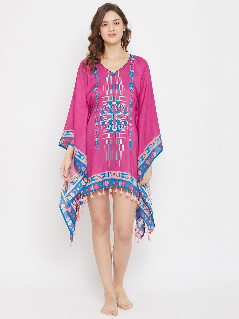 Boho Dreamcatcher Digital Printed Resort Kaftan