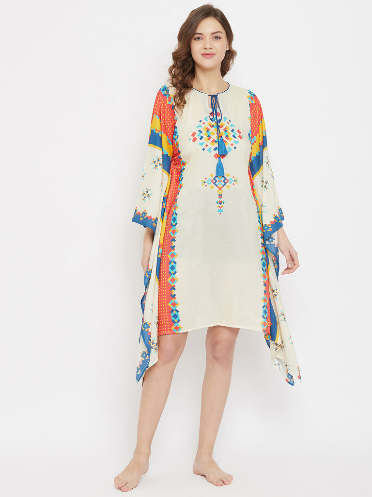 Bohemian Vibe Modal Digital Printed Resort Kaftan