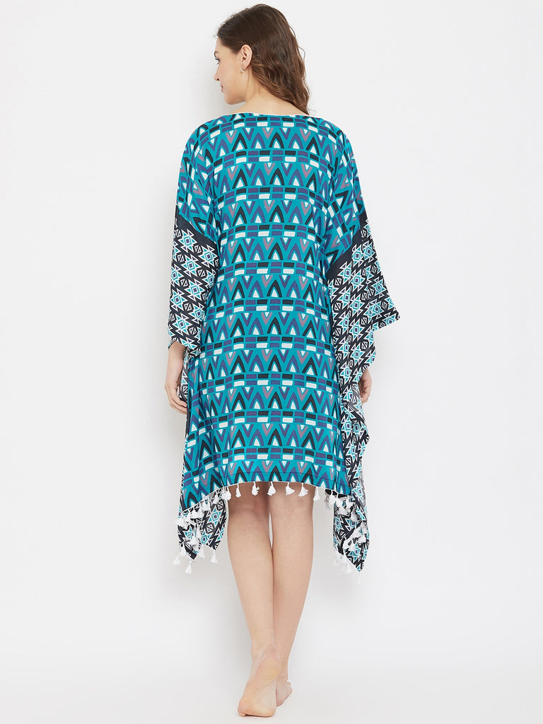 Boho Archive Modal Digital Printed Resort Kaftan