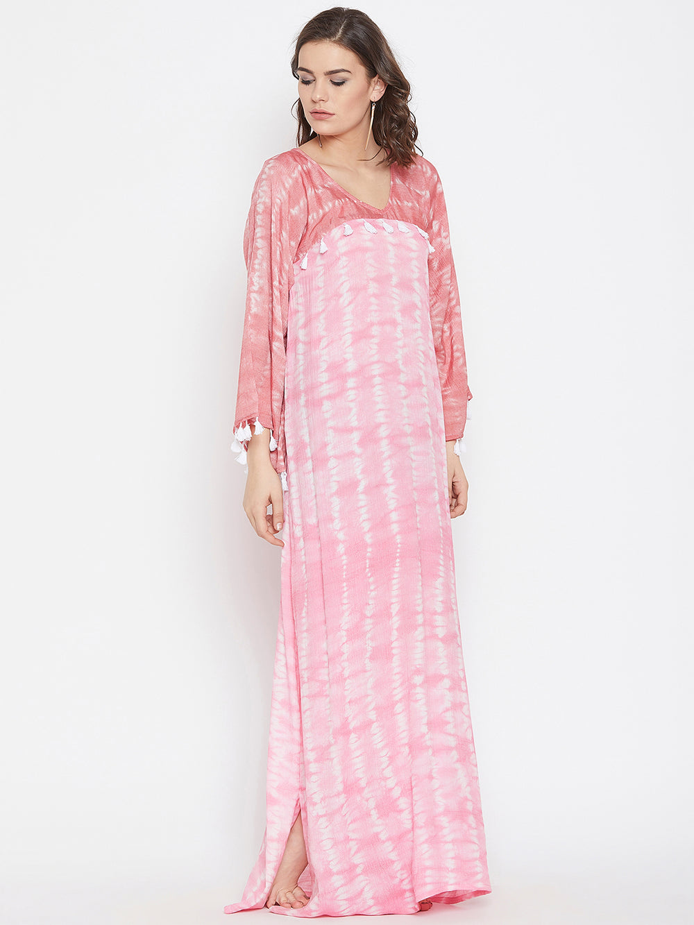 Pink Sand Tie-Dye Maxi Cover-Up