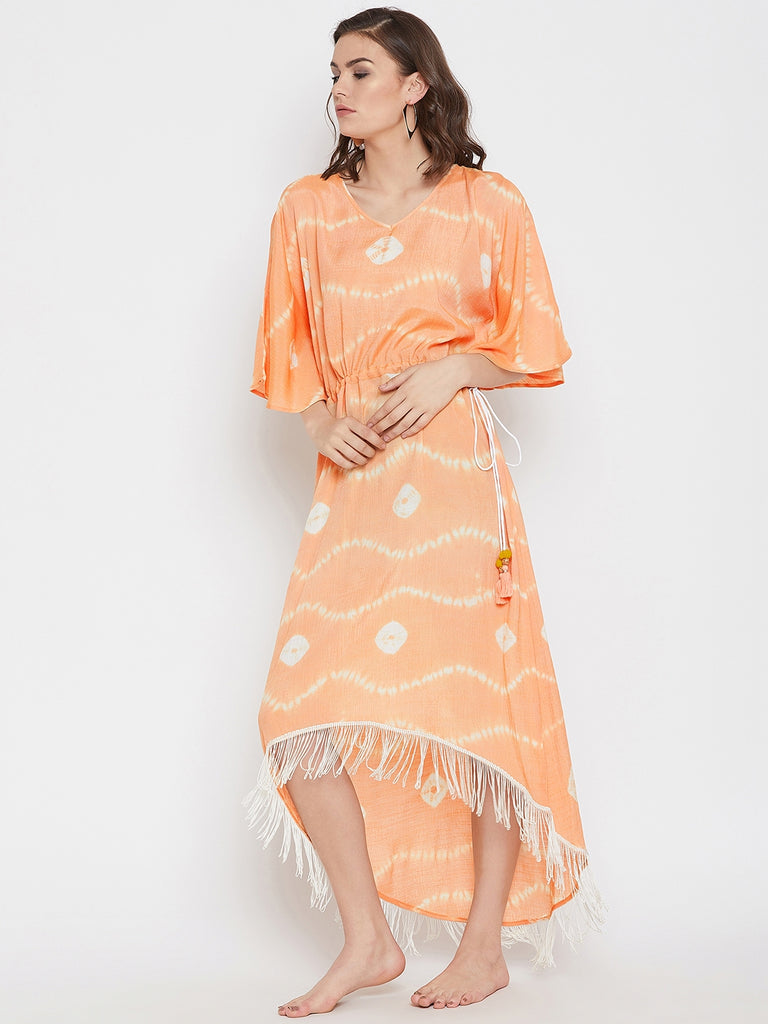 Fire N Ice Tie-Dye Cover-Up Dress
